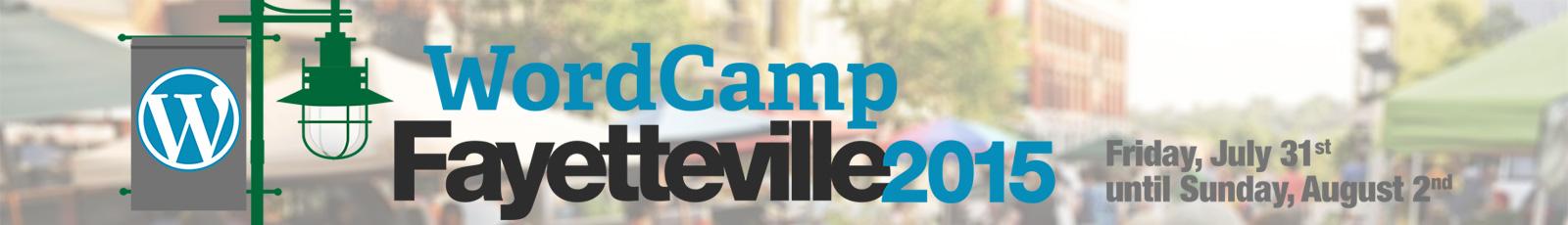 WordCamp Fayetteville Header 2015