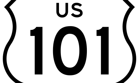 U.S. Highway 101 sign
