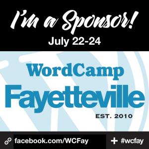 I'm a Sponsor at WordCamp Fayetteville