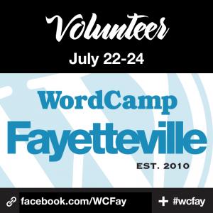 Volunteer at WordCamp Fayetteville